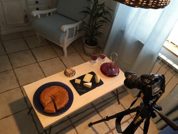 Empanada en el salón del Molino de Villacelama